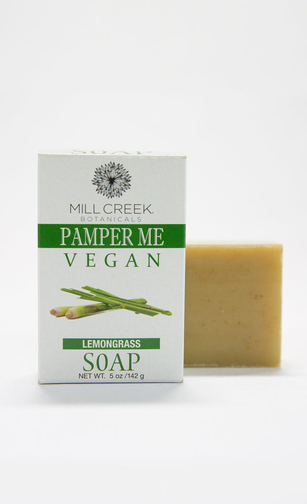 Pamper Me Vegan Lemongrass Soap - Mill Creek Botanicals