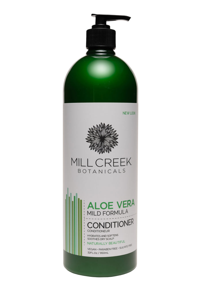 Value Size Aloe Vera Conditioner 32 oz - Mill Creek Botanicals