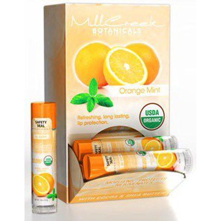 Lip Balm Orange Mint Display Box - Mill Creek Botanicals