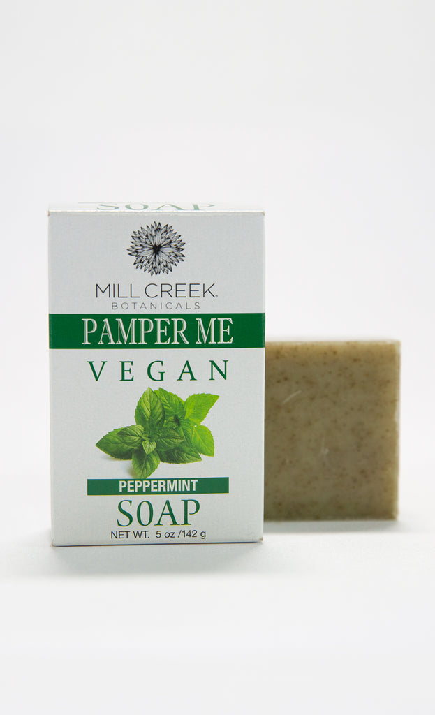 Pamper Me Vegan Peppermint Soap - Mill Creek Botanicals