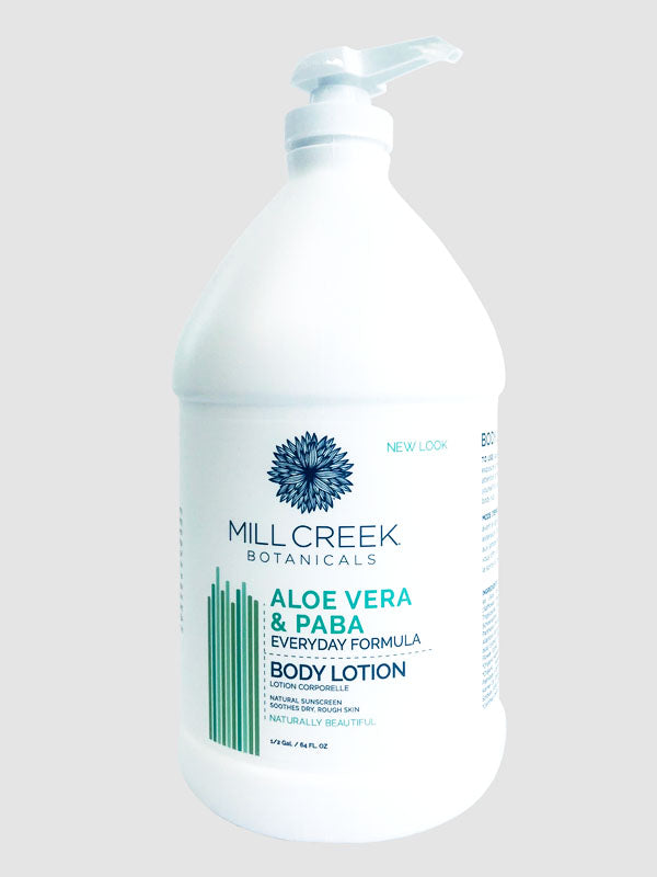 Value Size Aloe Vera & Paba Lotion 64 oz REFILL - Mill Creek Botanicals