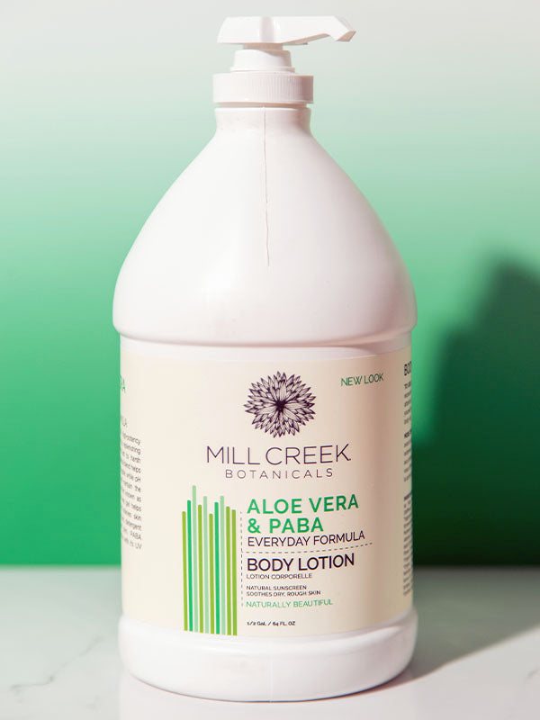 Value Size Aloe Vera & Paba Lotion 64 oz - Mill Creek Botanicals
