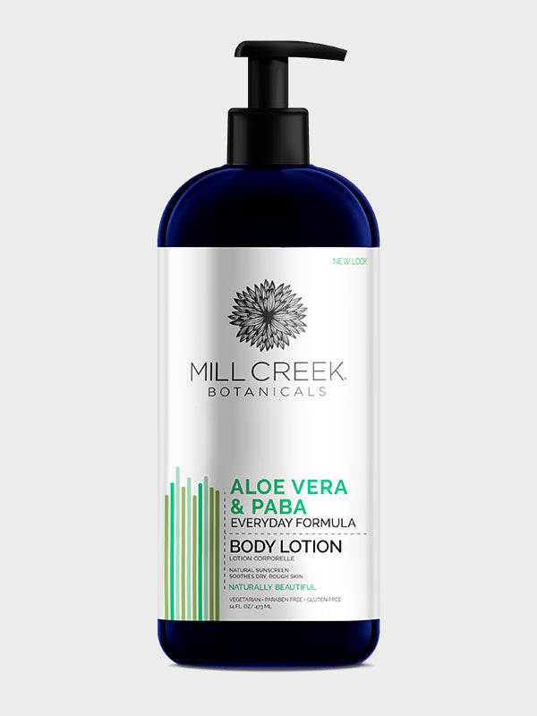 Aloe Vera & Paba Lotion 14 oz - Mill Creek Botanicals