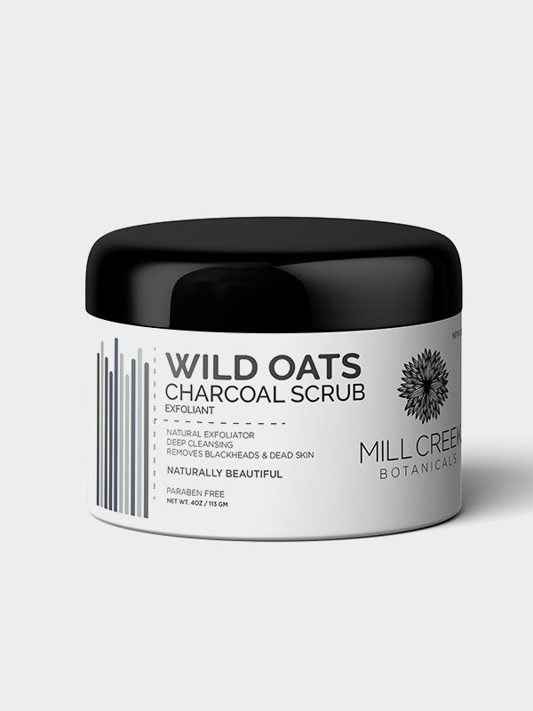 Wild Oats Charcoal Scrub - Mill Creek Botanicals