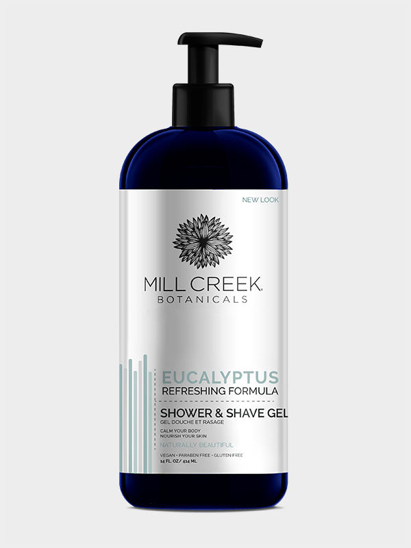 Eucalyptus Shower Gel 14 oz - Mill Creek Botanicals