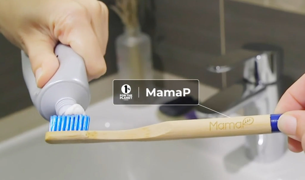 MamaP Bamboo Toothbrush - A Proud Member Of 1% For The Planet
