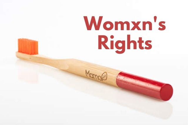 women's rights red mamap bamboo toothbrush