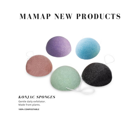 MamaP konjac sponges 5 to choose from