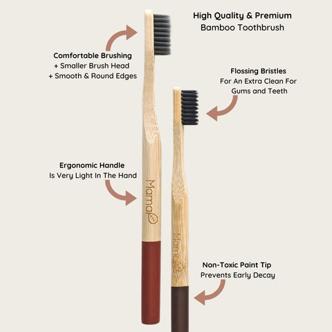 Melanin Bamboo Toothbrush 5-Pack For Reform