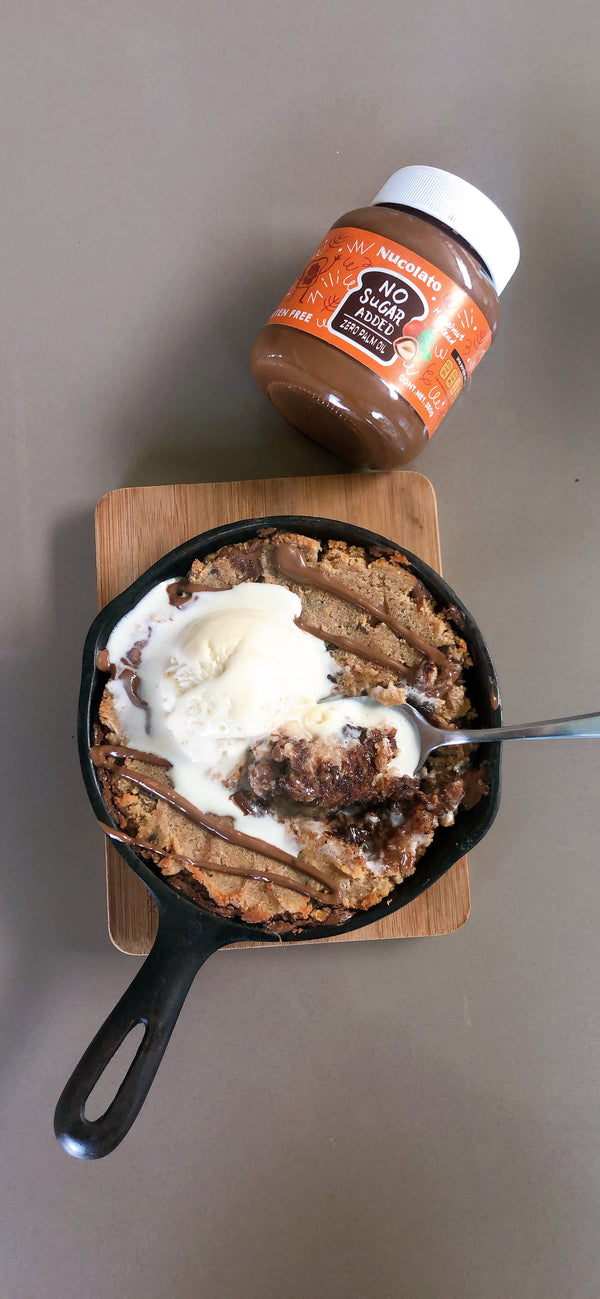 Nucolato Cookie Skillet: Healthy Version
