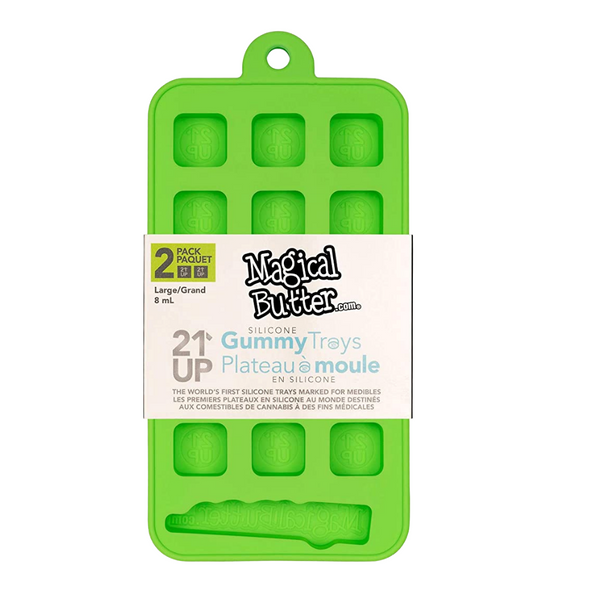 Non-Stick Silicone 21UP™ Square Medible Tray by Magical Butter