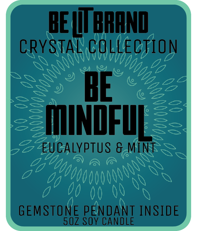 Be Lit Crystal Collection 5oz Odor Eliminating Terpene Candle, Be Mindfulbelitbrandbelitbrand