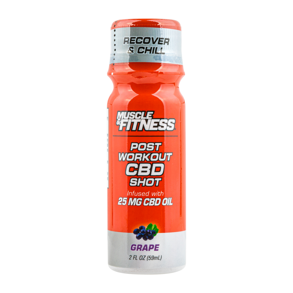 Muscle & Fitness Post-Workout Chill & Recovery Shot – 25mg 2oz