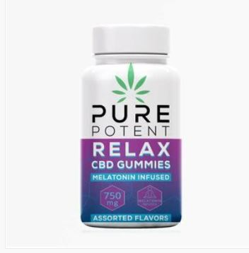 Pure Potent CBD Relax Gummies - 750mg (30 Count)