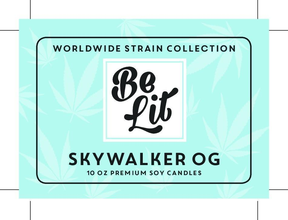 Be Lit Premium 7oz Odor Eliminating Terpene Candle, Skywalker OGbelitbrandbelitbrand