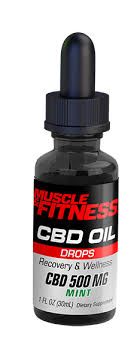 "Muscle & Fitness Tincture – 500mg 30ml ""Mint"""