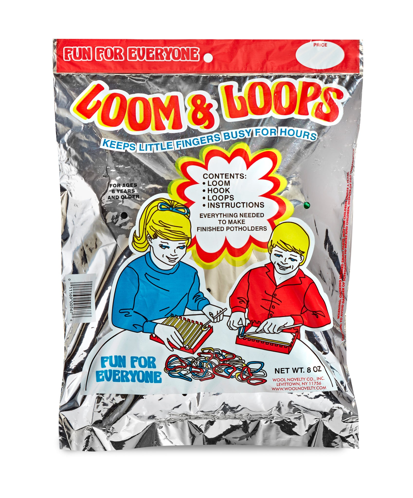 Giant Silver Rack Pack Loops And Loom Set Wool Novelty Co