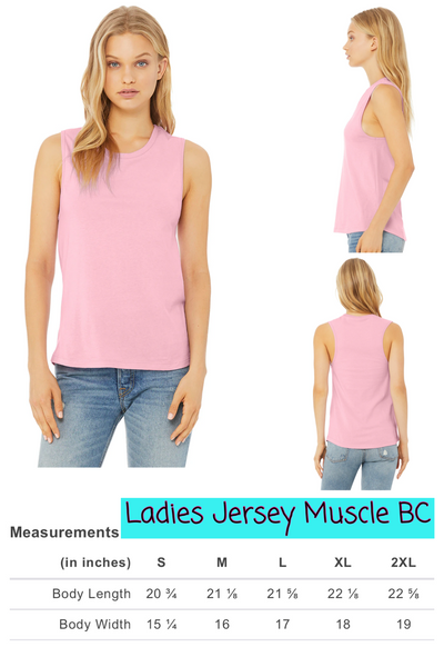 Ladies a Jersey Muscle Tank BC