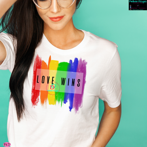 Love Wins -(Rainbow Brushstrokes)