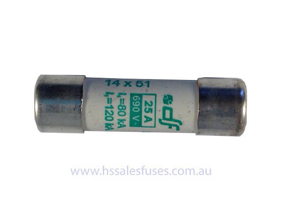 C14M 14.3 x 51mm 690Vac Slow (aM) Fuse Pack of 3
