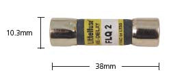FLQ 10.3 x 38mm 500VAC Slow fuse
