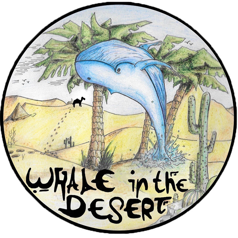 """Whale In The Desert"" - Sticker"