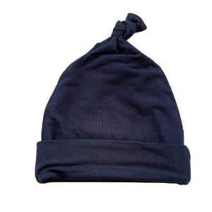 Navy Blue Knot Hat