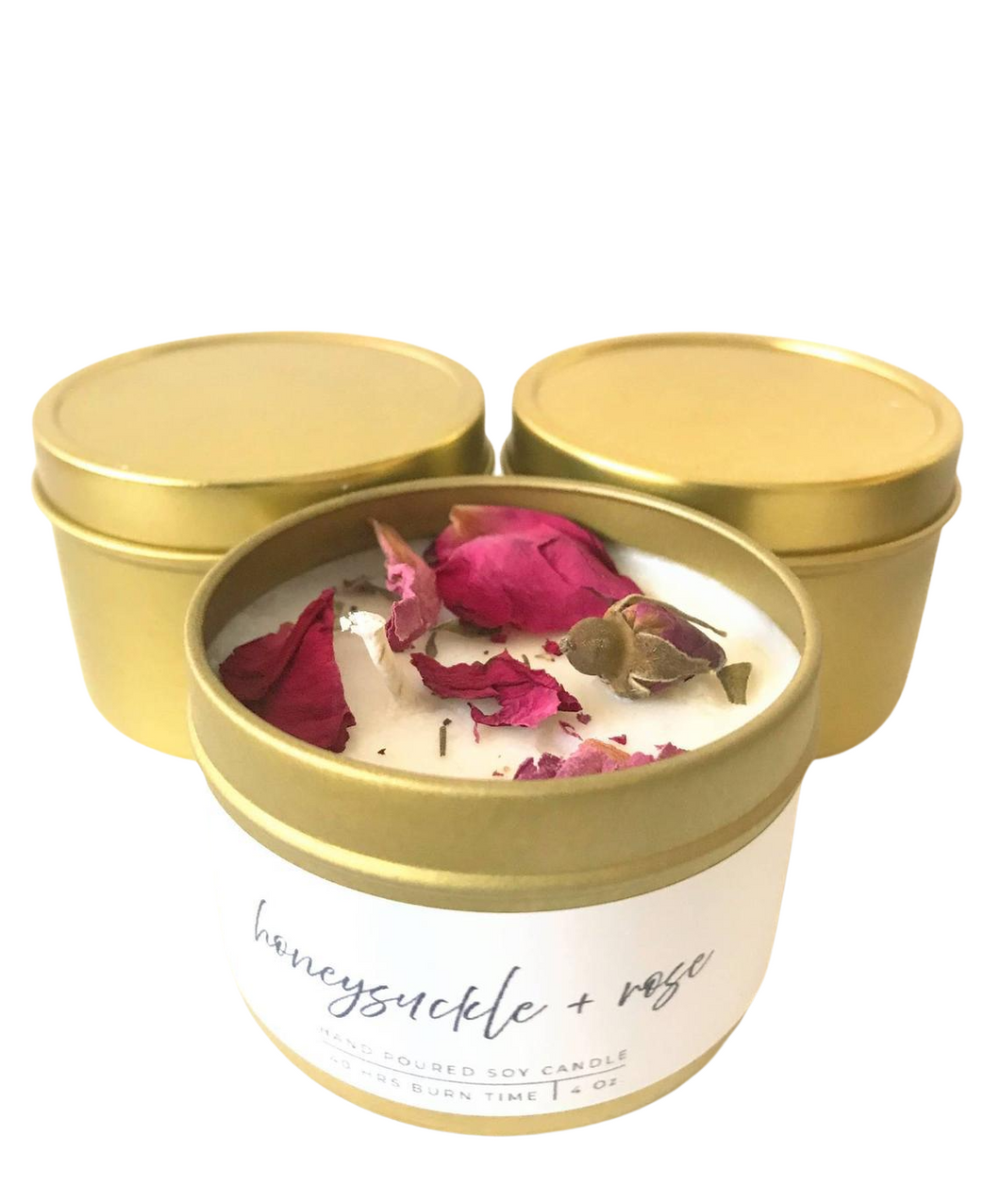 Soy Candles, honeysuckle and rose