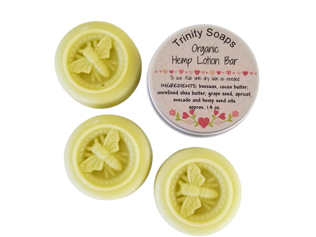 Organic Lemongrass Essential Oil Lotion Bar