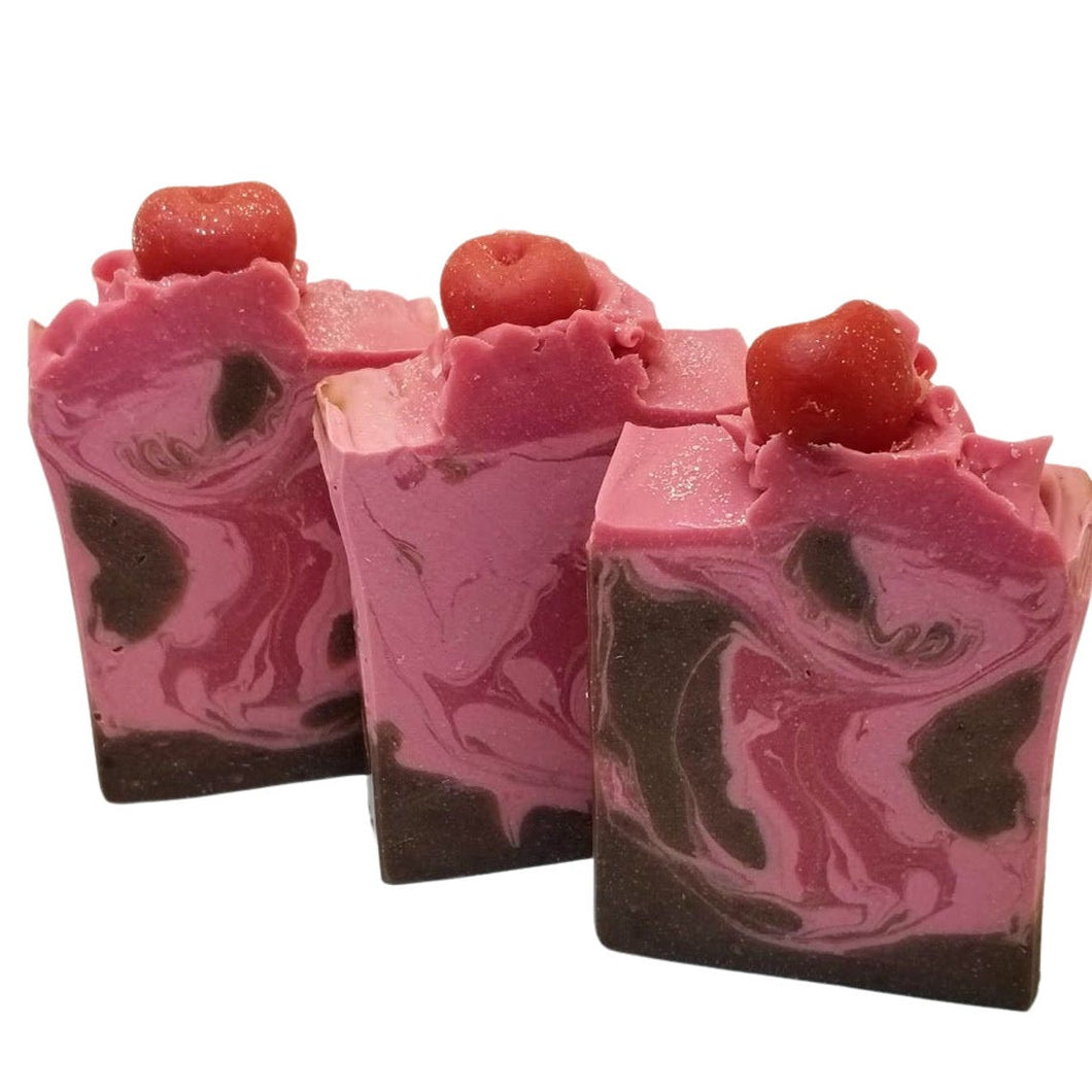 Cherry and Almond Vegan soap