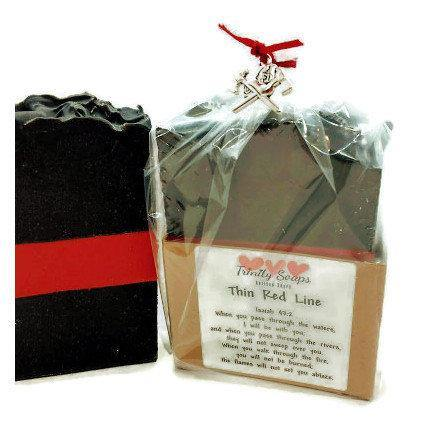 Firefighter gift soap, Thin Red Line - Trinity Soaps