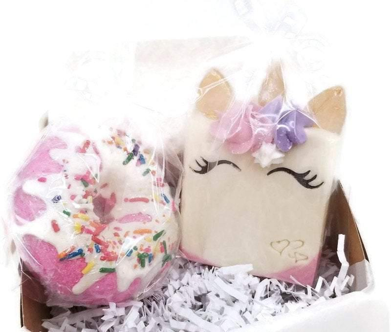 unicorn bath bomb gift set - Trinity Soaps
