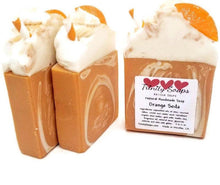 Load image into Gallery viewer, Orange soda goat milk soap