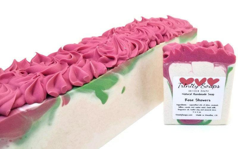 Rose shower soap, Lush dupe fragrance - Trinity Soaps