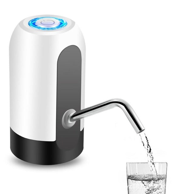 Portable Electric Water Pump Dispenser for Gallon Bottle with Switch Smart Wireless USB Charge Water Treatment Appliances
