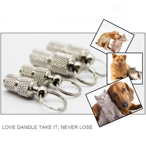 Stainless steel Pet Dog Cat Mini ID TAG Name Address Label Identity Tube Collar
