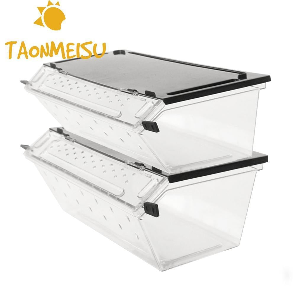 Top selling Reptile Box Reptile Terrarium Durable Transparent Acrylic Breeding Animals Insect Live Food Feeding Box