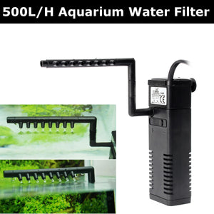 500L/H Aquarium Fish Tank Filtration Internal Submersible Water Pump