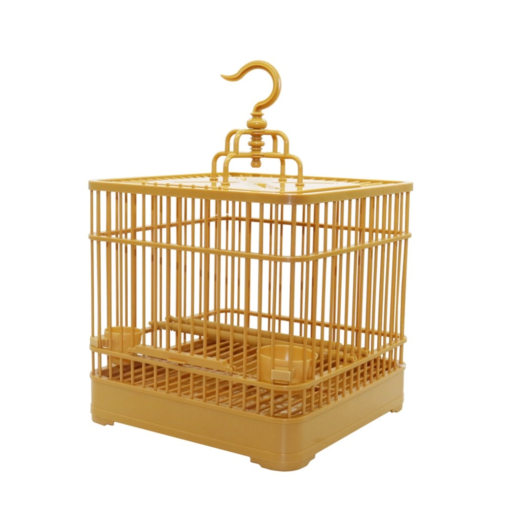 Assembly Bird Cage With Feeder And Water Small Pet Bird Full Set Bird House Parrot Cage 23x23x22cm