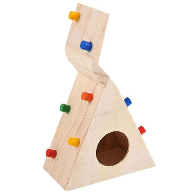 Multi-Function Hamsters Pet Toy Natural Wooden Colorful Scaling Ladder Fun Toy for Pet Rat Hamsters Excellent Quality