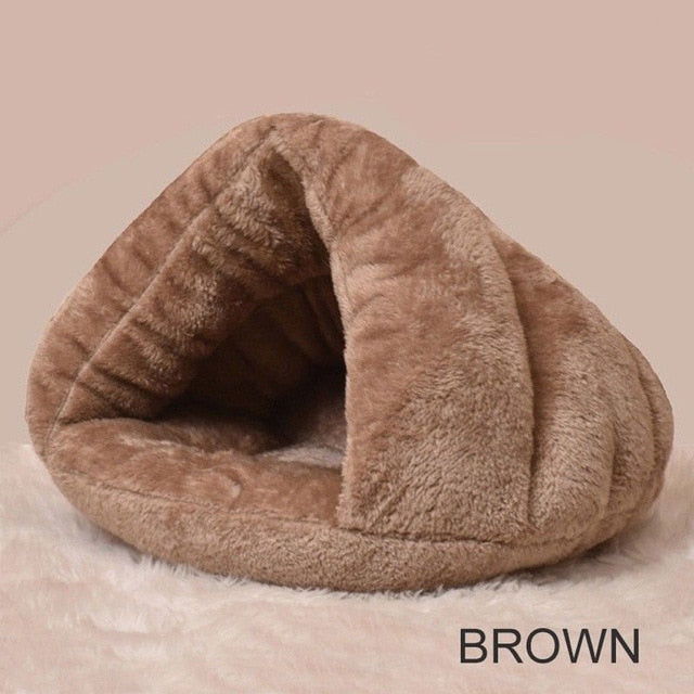 Soft Warm Nest Kennel Bed Cave House Sleeping Bag Mat Pad Tent Cozy Beds
