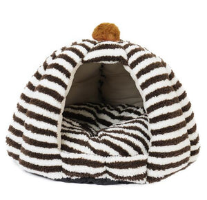 Super Warm Cat Cave Sleeping Bed With Cushion Tent Small Dogs Cat House Bed Pad
