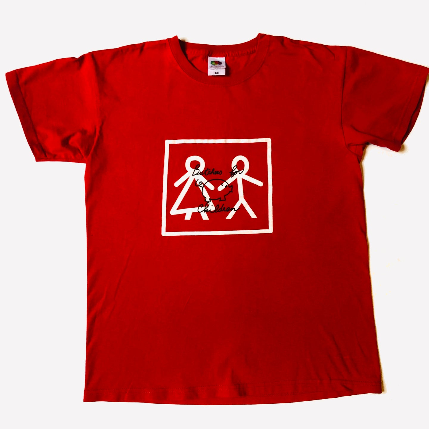 Butchers for Children t-shirt rossa Unisex