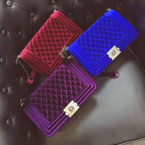 Velvet Cross body Bags