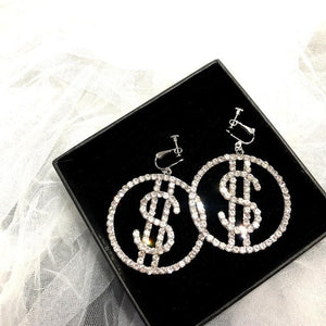 $$ signs earrings