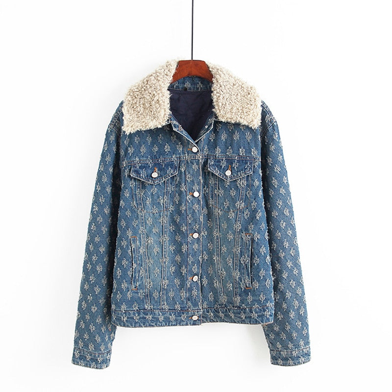 Teddy Denim jean jacket