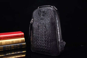 100% real genuine crocodile skin men's back pack