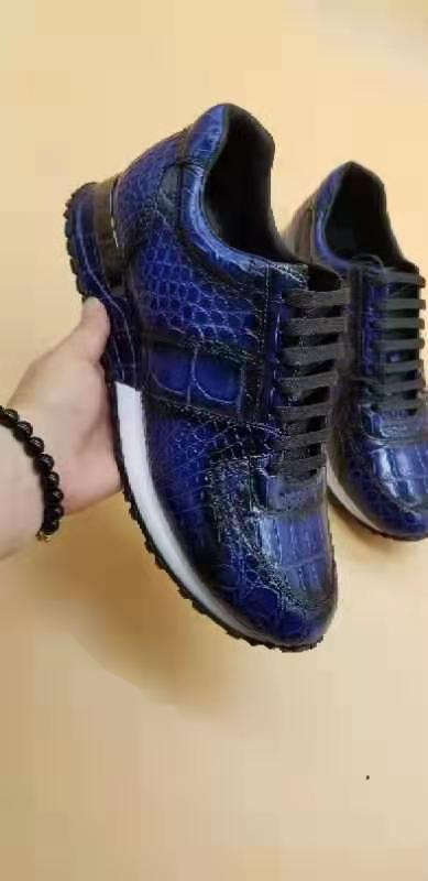 Genuine Crocodile skin men sneakers
