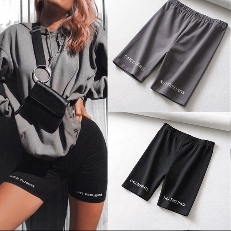 Catching flights biker shorts