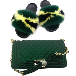 Summer time Ready for Fox fur slides with